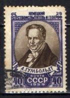 URSS - 1959 - Alexander Von Humboldt, German Naturalist And Geographer - USATO - Oblitérés
