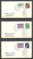 ESTLAND Estonia In Exil Original German Occupation Stamps Michel 1 - 3 Y Tartu Dorpat Used On 1963 Cover - Estonie