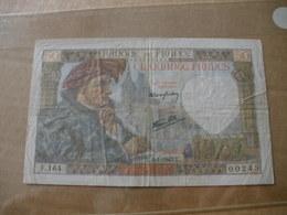 BILLET DE 50F JACQUES COEUR DU  08/01/1942 FAYETTE 19/18 - 50 F 1940-1942 ''Jacques Coeur''