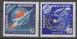 Russia, USSR 07/26.04.1961 Mi # 2468-69 A; Launch Of Venera 1 Probe MNH OG - Nuevos
