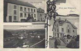 Luxembourg  -Gruss Aus WILWERWILTZ -  Hôtel Schwinnen-Haus -  Villa Schwinnen - Wilwerwiltz  2 Scans - Entiers Postaux
