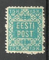 ESTLAND ESTONIA 1919 Michel 2 Local Postmaster Perforation Postmeisterzähnung * - Estonie
