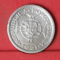 SAINT THOMAS E PRINCIPE 5 ESCUDOS 1951 - ***SILVER***   KM# 13 - (Nº34332) - São Tomé Und Príncipe
