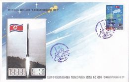 1998 North Korea   First Satellite Kwangmyongsong -1 Rocket Stamp  First Day Cover FDC - Korea, North