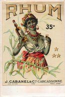 Etiquette De Bouteille De RHUM... Cananel Et Cie  Carcassonne - Alcools
