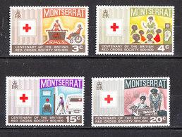 Montserrat - 1970. Croce Rossa. Red Cross. Aiuto Ai Malati, Infermiera Militare. Aid To The Sick, Military Nurse. MNH - Rotes Kreuz