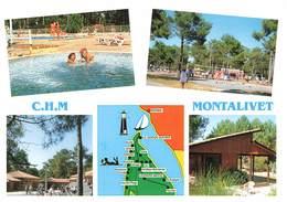 33 Montalivet Centre Helio Marin CHM Naturisme Naturiste Nue Nu Volley Ball Piscine Carte 5 Vues - Francia