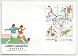 Macau Macao Portugal China FDC 1994 Football - Macau