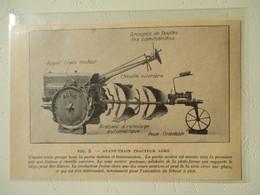 Tracteur De Labour à Plat - Ets AGRO  - Coupure De Presse De 1928 - Tractors