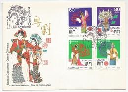 Macau Macao Portugal China FDC 1991 Traditional Costumes - Macau