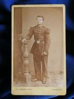 Photo CDV J. L. Perrot à Chambéry  - Militaire En Pied Du 97e Circa 1875 L295 - Photos