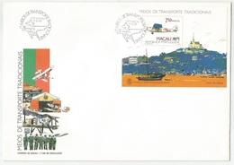 Macau Macao Portugal China Souvenir Sheet On FDC 1989 Airplane - Macau