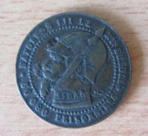France - Monnaie Satyrique SEDAN Napoléon III Le Misérable / 80 000 Prisonniers / Vampire Français - 2 Décembre 1851 - Errors & Oddities