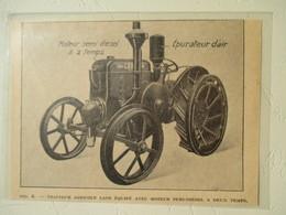 Tracteur Agricole LANZ à 2 Temps  - Coupure De Presse De 1928 - Tracteurs