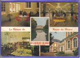 Carte Postale 62. Saint-Laurent-Blangy  Maison De Repos Des Mineurs  Baby-foot  Très Beau Plan - Saint Laurent Blangy
