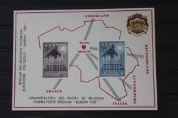 Belgien, Amtliches Gedenkblatt Der Belgischen Post: EUROPA-Marken 1957; Wallonische  Ausgabe (Französische Sprache) - Europa-CEPT