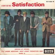 The ROLLING STONES - EP - 45T - Disque Vinyle - Satisfaction - 457086 - Vinyl-Schallplatten