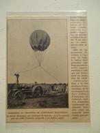 ITALIE - Tracteur Electrique Alimenté Par Câble Aérien - Invention Mazza Fra & Bolledi - Coupure De Presse De 1928 - Tractors