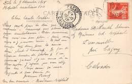 20-4658 : Cachet Perlé. CAGNY CALVADOS. 12 DECEMBRE 1915. - Marcophilie (Lettres)