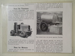 Tracteur Gazogène à Quatre Roues Motrices  -   Ets LATIL à Suresnes (Seine)   - Coupure De Presse De 1934 - Tractors