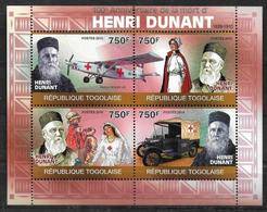 TOGO   Feuillet  N° 2152/55  * *  ( Cote 18e )  Croix Rouge Henry Dunant Avions Voiture Ambulance - Henry Dunant