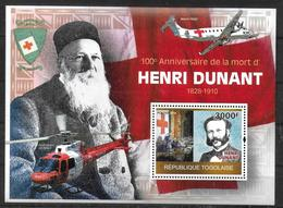 TOGO   BF 391  * *  ( Cote 17e )  Croix Rouge Henry Dunant Avions Helicopteres - Henry Dunant