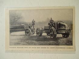 Tracteur Militaire (à Sabots Guerrini)  Pour Semi Remorque    - Coupure De Presse De 1924 - Tracteurs