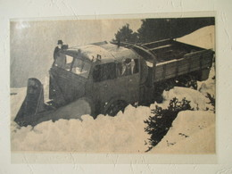 Camion Chasse-Neige  Berliet    - Coupure De Presse De 1956 - Camions