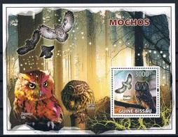 Bloc Sheet Oiseaux Hiboux  Birds Owls   Neuf  MNH **  Guine Guinea Guinee Bissau 2008 - Hiboux & Chouettes