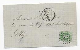 Cob 30   1870  CHIMAY  GILLY LP 82 - 1869-1883 Léopold II