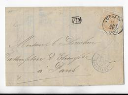 Cob 33   1875 LOUVAIN ( Superbe Frappe )  LEUVEN  ( Prachtig Gestempeld ) BANQUE DE LA DYLE  ( Verso ) - 1869-1883 Léopold II