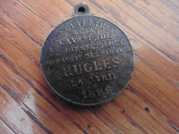 MEDAILLE Souvenir De La Cavalcade De RUGLES 1886 - Autres