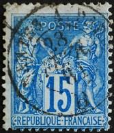 -Sage N°90 Type Ll.(AMBULANT.) O NANTES A PARIS 28 FEVR 1881. - 1876-1898 Sage (Type II)
