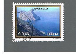 ITALIA REPUBBLICA  -  2004   TURISTICA: ISOLE EGADI        - USATO ° - 1946-.. République