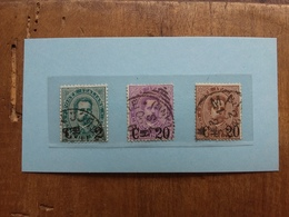 REGNO - Sovrastampati Nn. 56/58 Timbrati + Spese Postali - 1878-00 Umberto I