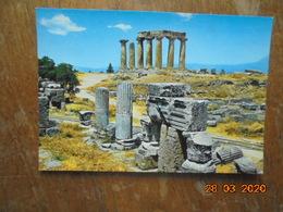 Corinthe (antique) Le Temple D'Apollon. Rotalcolor 207 - Grèce