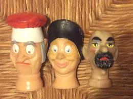 3 TÊTES MARIONNETTES - Marionetas