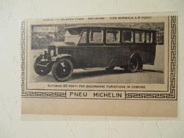 Autobus D'excursion LANCIA 20 Pl. Pneu Michelin    - Coupure De Presse Italienne De 1927 - Camiones
