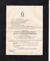 LOUVAIN Château De CLEERBEEK Maximilien Baron De TROOSTEMBERGH Burgemeester HOUWAART HAUWAERT 1925 Linden - Todesanzeige