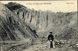Cp Melezen Alpes De Haute Provence, La Ravin Des Orgues - Andere Gemeenten
