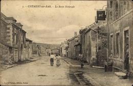 Cp Chémery Sur Bar Ardennes, La Route Nationale - Autres Communes