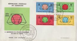 Cameroun FDC 1963 Droits De L'homme 375-78 - Cameroun (1960-...)