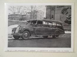 Autobus D'excursion Russe GORKI  - Usine Staline Moscou    - Coupure De Presse  De 1936 - Camiones