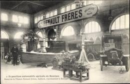 Cp Bourges Yvelines, Exposition Automobile Agricole, Stand De La Maison Renault Freres, Moteur - Frankreich
