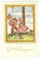 K 1064, OLD  FANTASY  POSTCARD  , CHILDREN , FINE ART , GREETINGS - Sin Clasificación