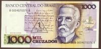 BRASIL 1 CRUZADOS NOVO / 1000 CRUZADOS    ND (1989)  SERIE B.....A  P# 216b - Brésil