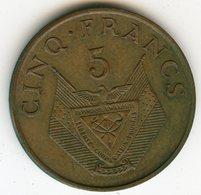 Rwanda 5 Francs 1974 KM 13 - Rwanda