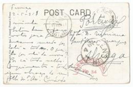Portugal Censored Postcard To Alvega 1918 Cuensura N°4 + Red Censurado N°34 + C.E.P./ S.P.C.7 France WWI - Briefe U. Dokumente