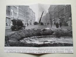 Berlin Kreuzberg  - Camion De Pompier Grande échelle - Exercise   - Coupure De Presse  De 1936 - LKW