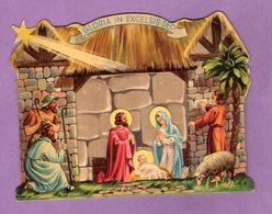 Crèche De Noel à Système Pop Up - Gloria In Excelsis Deo - Enfant Jésus, Berger, Mouton, Vierge Marie, Etoile Filante - Otros